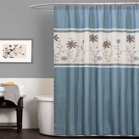 Monica Blue Shower Curtain
