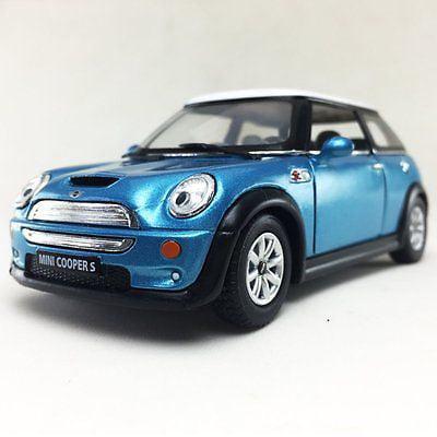 """5"""" Kinsmart Mini Cooper S Diecast Model Toy Car 1:28 Blue"""