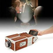 Smartphone Projector DIY 3D Cardboard Mini Smartphone Projector Light Novelty Adjustable Mobile Phone Projector Portable Cinema