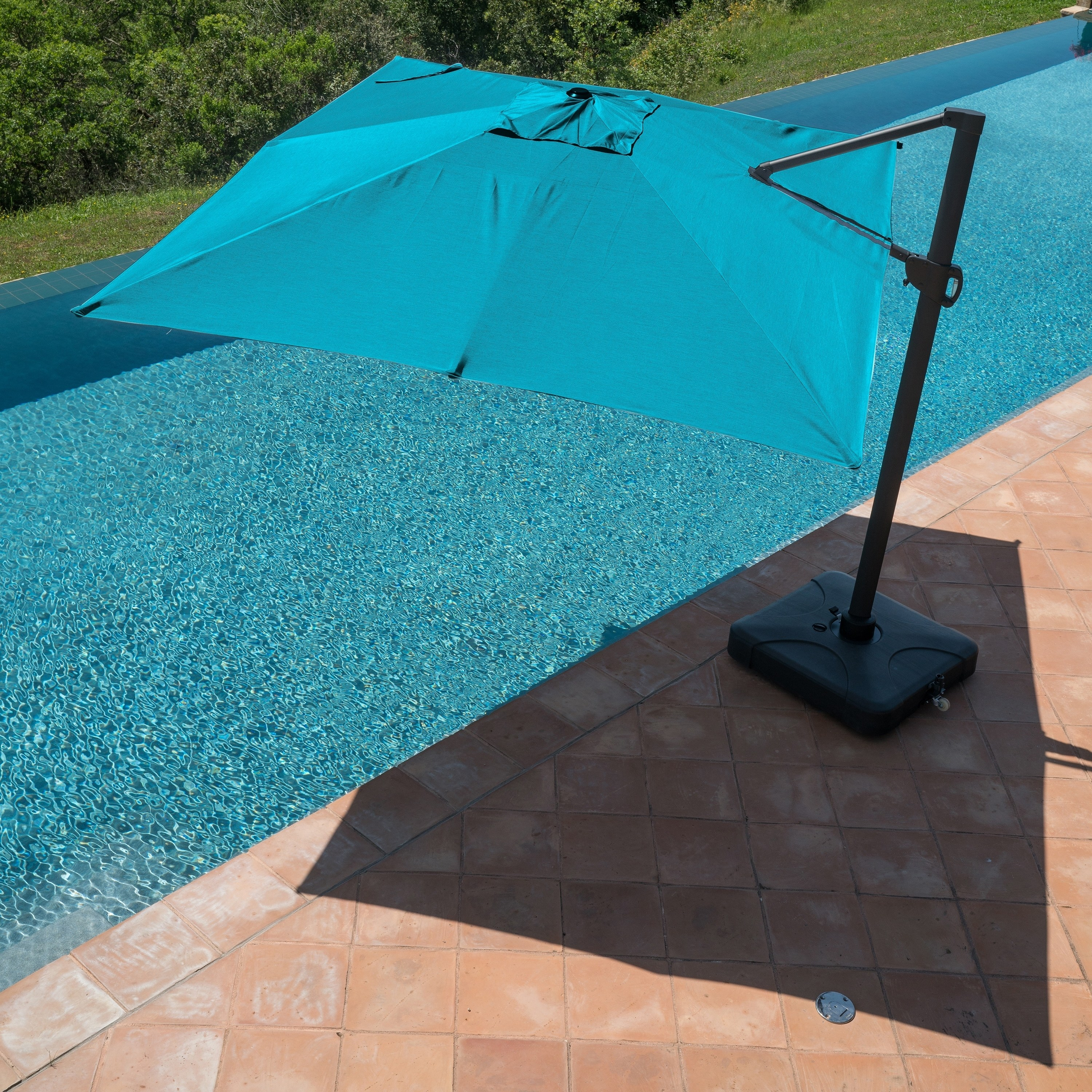 Corvus  Valencia 13 x 10-FT Outdoor Sunbrella Aluminum Canopy Umbrella with Base