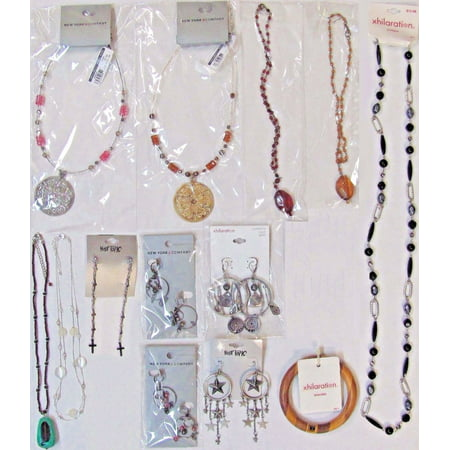 13 Wholesale Lot $128 Fashion Jewelry Necklaces Earrings Bracelet - Costume Jewelry