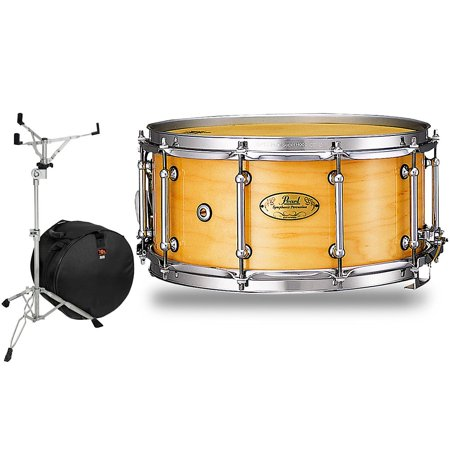 Pearl Concert Series - Pearl Concert Series Snare Drum with Stand and Free Bag 14 x 6.5 in. Natural