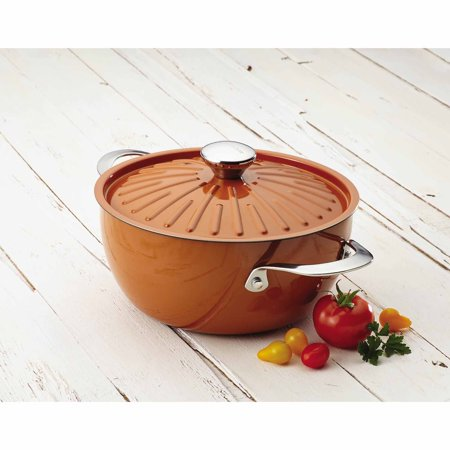 Rachael Ray Cucina Oven-To-Table Hard Enamel Nonstick 4.5-Qt Covered Round Casserole 4 Qt Stainless Covered Casserole