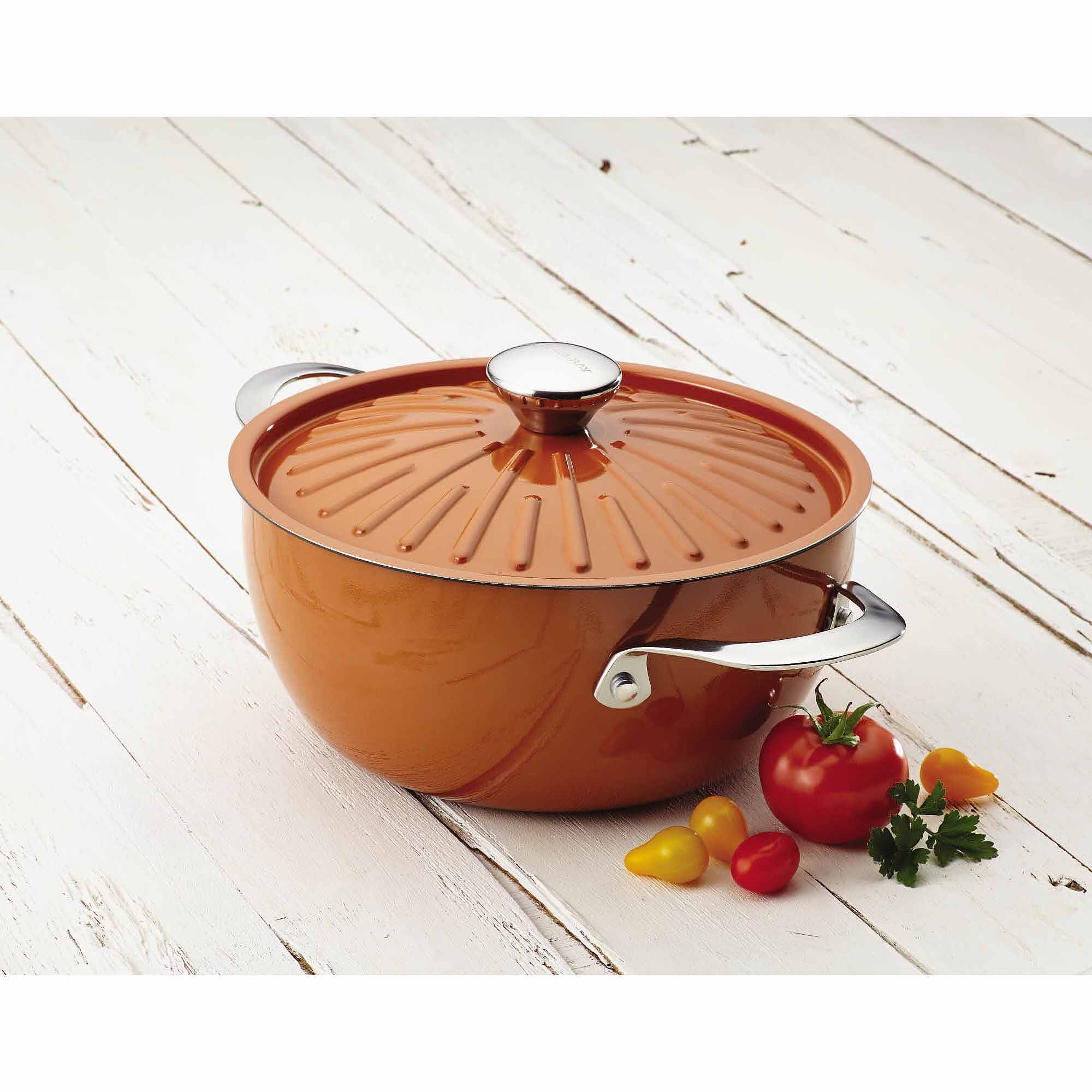 Rachael Ray Cucina Oven To Table Hard Enamel Nonstick 4.5 Qt Covered Round