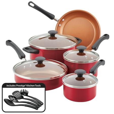 Pro 8 Piece Set (Farberware Easy Clean Pro Nonstick Cookware Set,)