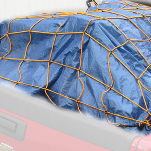 Heininger Cargo StretchWeb Storage Net 6ft x 10ft - Truck Tailgate with Hooks
