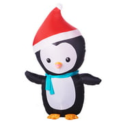 inflatable penguin with santa hat 4