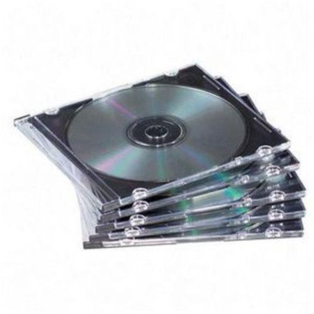 Book Fold Plastic Clear Cd - STANDARD CASES Book Fold Plastic Clear  Black CD-DVD Jewel Case - case of 100