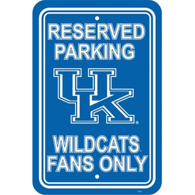 Fremont Die 50230 Kentucky Wildcats- 12 inch X 18 inch Plastic Parking Sign