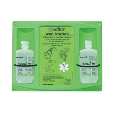 Eyesaline Single Eye Wash (Fend-all 16 Ounce Double Bottle Eyesaline Sterile Eye Wash Wall)