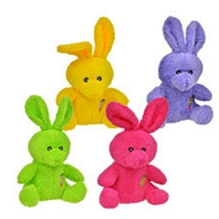 Bunny 4 Piece (greenbrier bright colored plush easter bunnies, 4 piece)