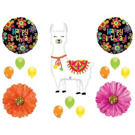 Neon Llama Selfie Celebration Birthday party Balloons Decoration Supplies Daisy (Neon Birthday)