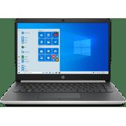 "HP 14 14"" Touchscreen Laptop Computer, AMD Ryzen 3 3200U up to 3.5GHz (Beats i5-7200U), 8GB DDR4 RAM, 256GB PCIe SSD, 802.11AC WiFi, Bluetooth 4.2, HDMI, USB Type-C, Webcam, Silver, Windows 10 in S"
