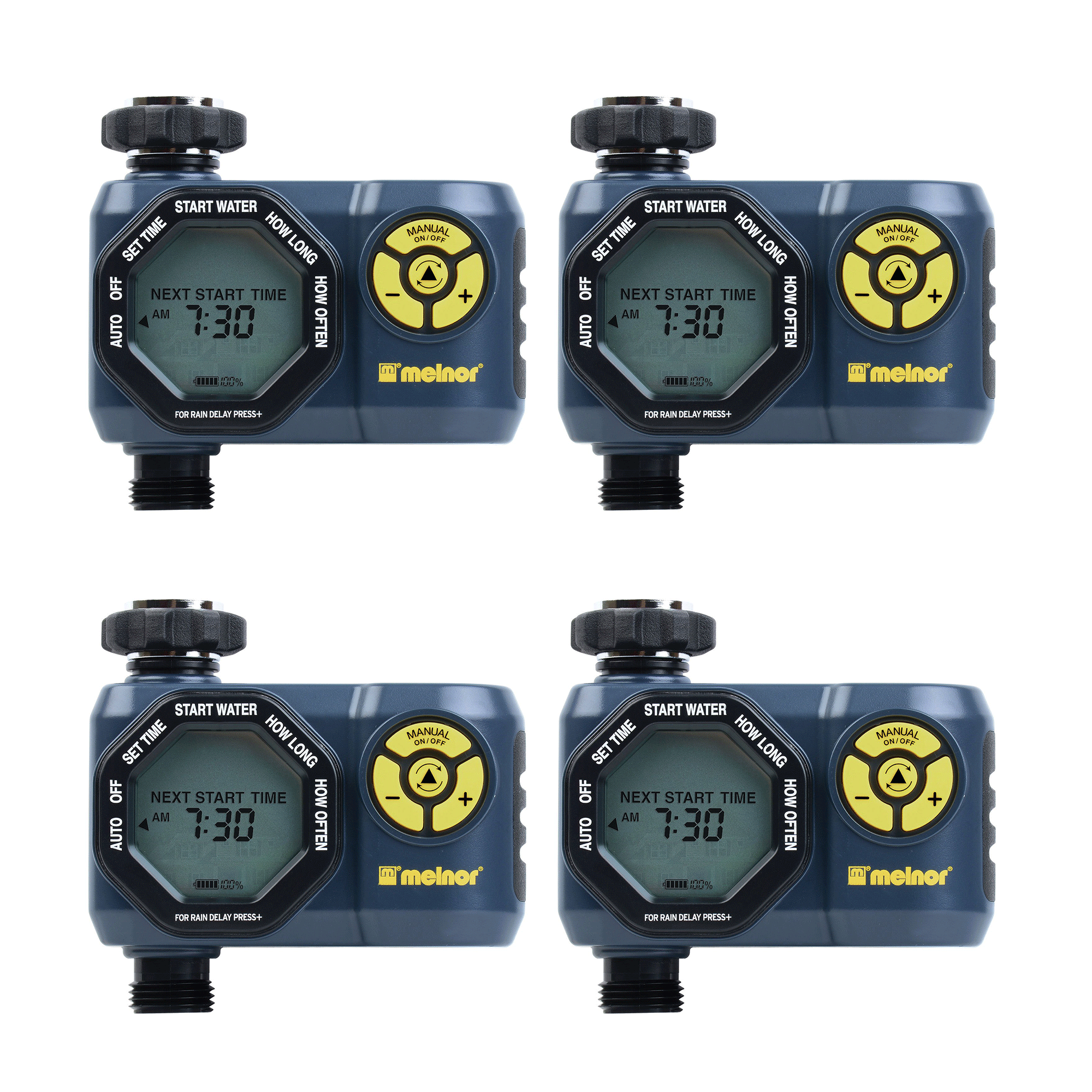 Melnor Digital 1 Zone Programmable Water Timer & Controller for Garden (4 Pack)
