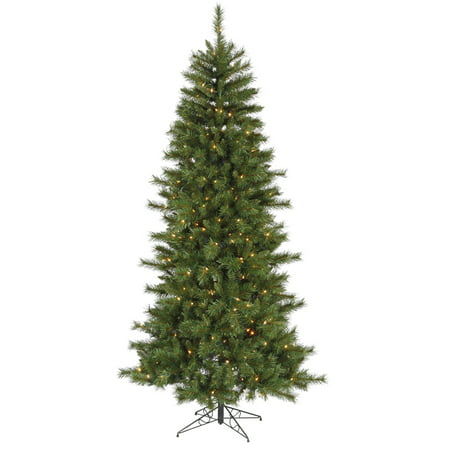 Vickerman 7' Unlit Newport Mixed Pine Artificial Christmas Tree with a  Metal Tree Stand - Vickerman 7' Unlit Newport Mixed Pine Artificial Christmas Tree With