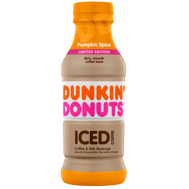 (12 Bottles) Dunkin' Donuts Iced Coffee, Pumpkin Spice, 13.7 Fl Oz