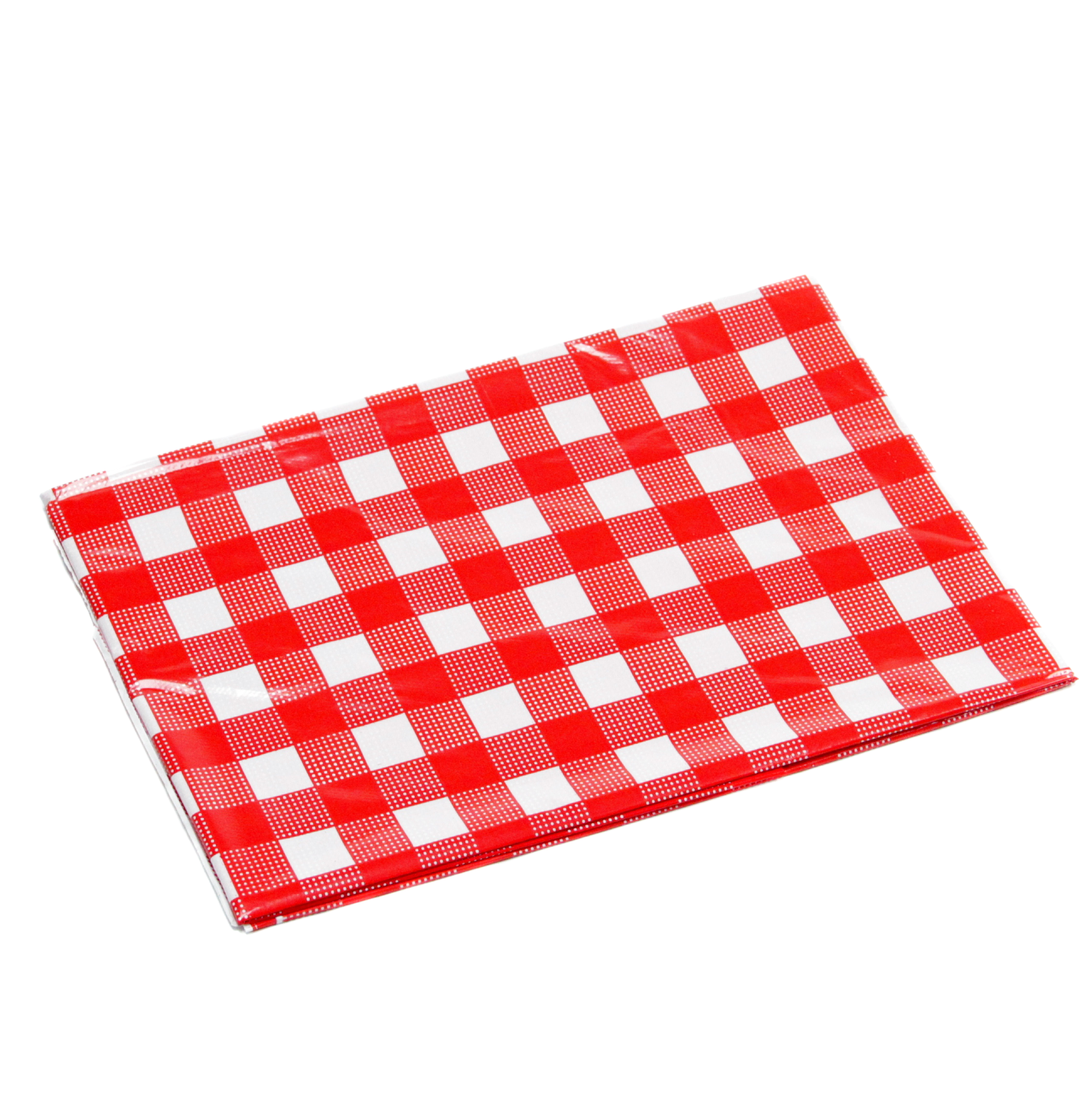"52x108"" Red/White Table Cloth"