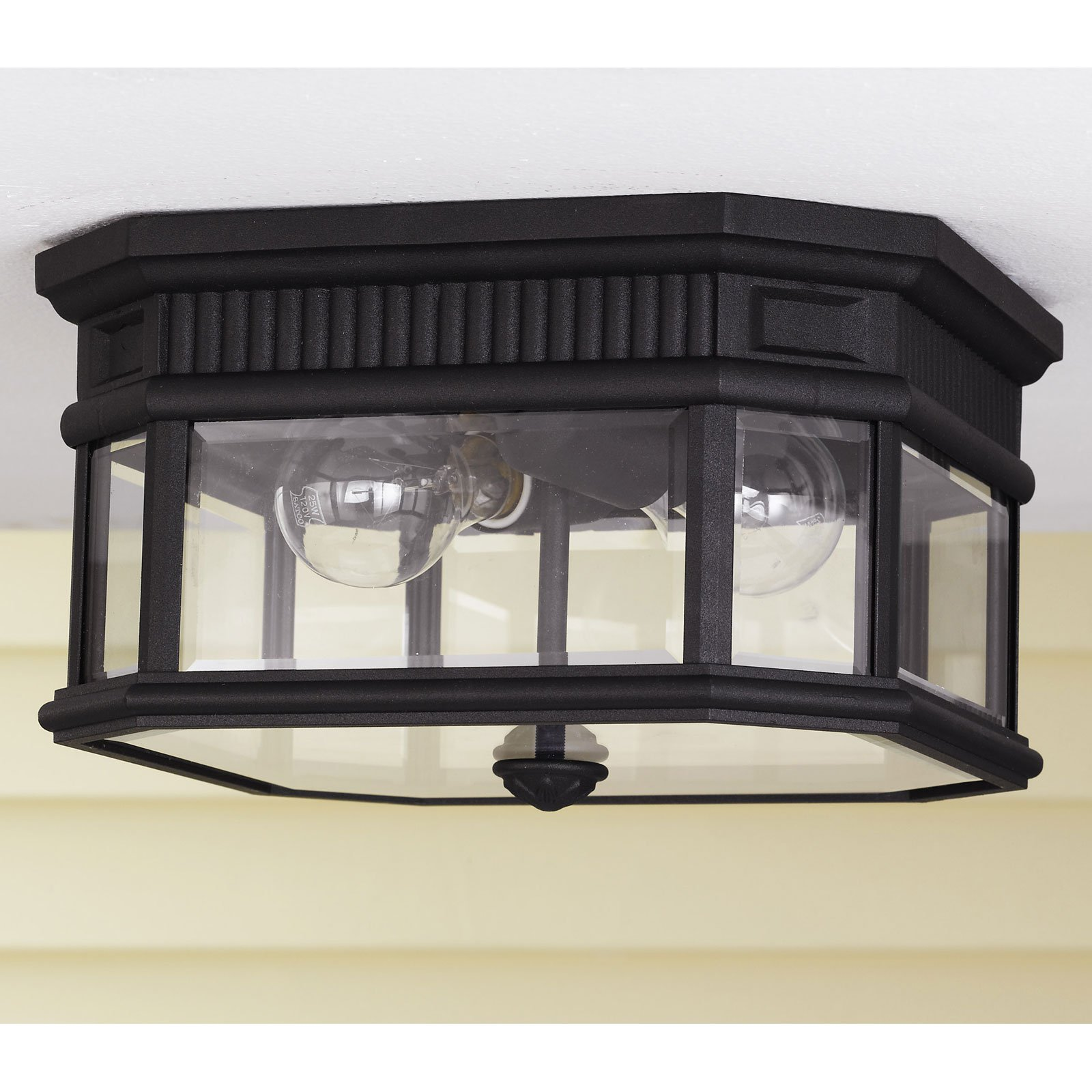 Feiss Cotswold Lane Outdoor Ceiling Light - 6.5H in. Black