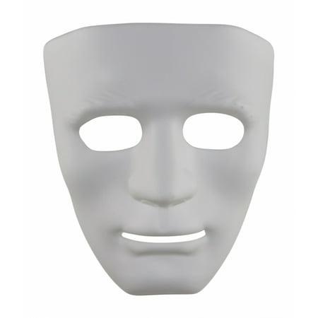 KAYSO INC AZ001WH WHITE BLACK FULL FACE DANCE PLASTIC COSTUME MASK](Black And White Halloween Faces)