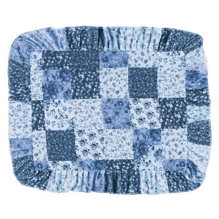 Country European Sham (Country Wildflower Patch Pillow Sham, Sham, Blue )