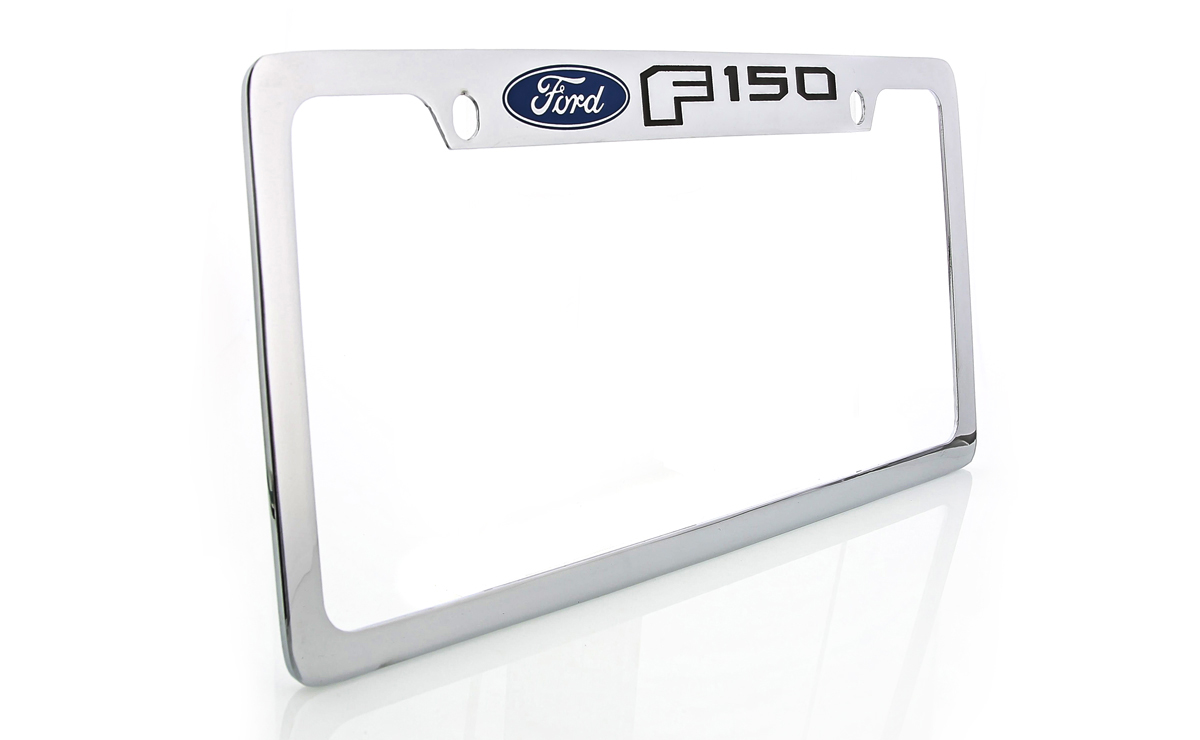 Ford Edge Chrome Plated Brass Metal License Plate Frame Wide Bottom Engraved 2 Hole Baronlfi