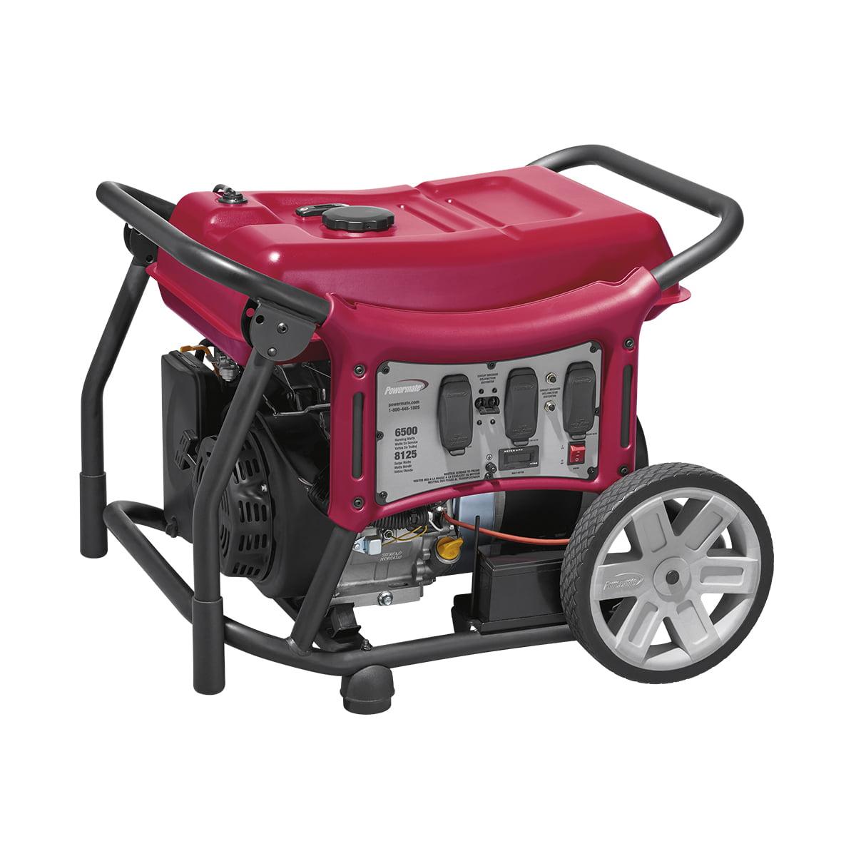 Powermate 6500 Watt Electric Start Portable Generator, 49 State/CSA - PC0146500