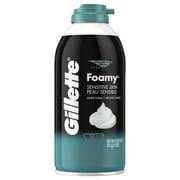 (4 Pack) Gillette Foamy Sensitive Shave Cream 11oz
