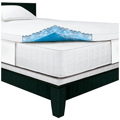 Serta Rest Queen 3 Gel Memory Foam Mattress Topper Walmart Com