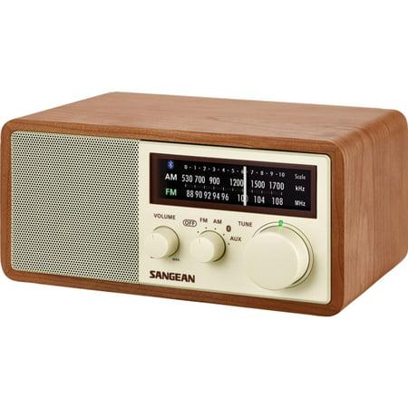 Sangean WR-16 AM/FM Bluetooth Wooden Cabinet Radio Am Wood Cabinet Radio
