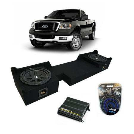 04-08 Ford F-150 Ext Super Cab Truck Kicker Comp C10 Dual 10 Sub Box CX600.1 Amp - Factory Certified