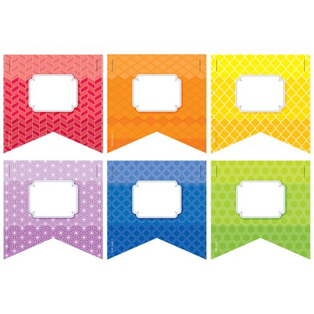 RAINBOW PENNANTS 3IN CUT OUTS PAINTED PALETTE