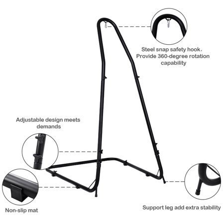 Adjustable Hammock Chair Stand For Hammocks Swings & Hanging Chairs Steel Frame - image 6 of 9
