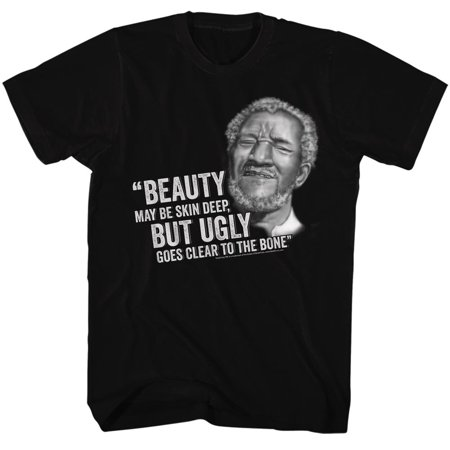 Redd Foxx 1970s Ugly goes clear to the bone Sanford & Son Sitcom Adult T-Shirt](Clothes Of The 1970s)