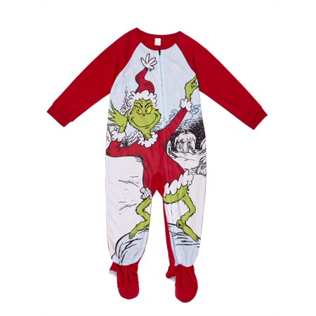 Dr Seuss Baby Clothes - Dr. Seuss The Grinch Microfleece Blanket Sleeper Pajamas (Toddler Girls)