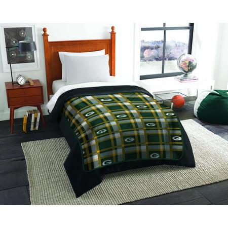 "NFL Green Bay Packers ""Plaid Repeat"" Oversized Micro Rachel Throw Blanket, 55"