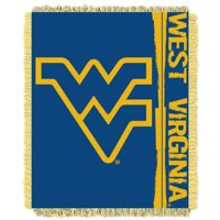 """West Virginia Mountaineers The Northwest Company College Double Play 46"""" x 60"""" Woven Blanket - No Size"""