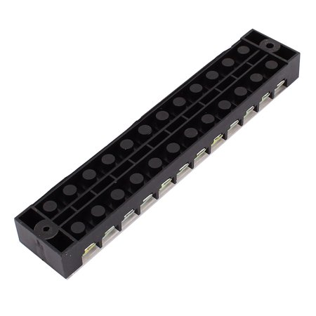 600V 25A Double Row 12 Position Covered Screw Terminal Barrier Blocks TB2512 - image 1 de 4
