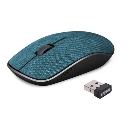 ce49c24da7e RAPOO 2.4G Wireless Mouse Fabric Portable Mobile Optical Mice with Nano USB  Receiver for Notebook,PC, Laptop, Tablet, Computer, and Mac, Reach  33ft,Less ...