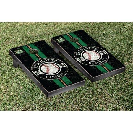 Charlotte Baseball - North Carolina Charlotte 49ers Regulation Cornhole Game Set Baseball Vintage Version