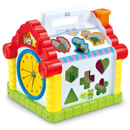 toyk musical toys colorful bJy fun house many kinds of music electronic geometric blocks learning educational toys