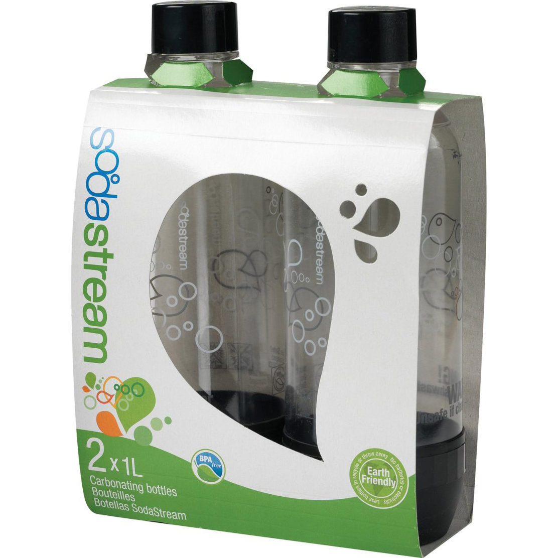 SodaStream 1L Carbonating Black Bottles (Twin Pack)