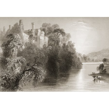 Lismore Castle County Waterford Ireland Drawn By WHBartlett Engraved By E Benjamin From The Scenery And Antiquities Of Ireland  By NPWillis And JStirling CoyneIllustrated From Drawings By WHBartlett P