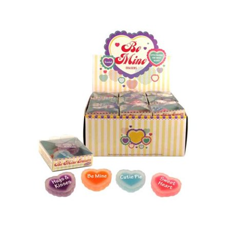Kole Imports KK704-36 Be Mine Scented Erasers Countertop Display - Pack of 36 - Scented Erasers