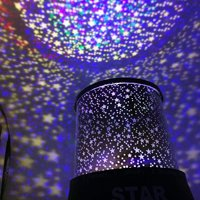 LED Night Light For Kids Rotating Star Projector Colorful Lamp Figurine Lights