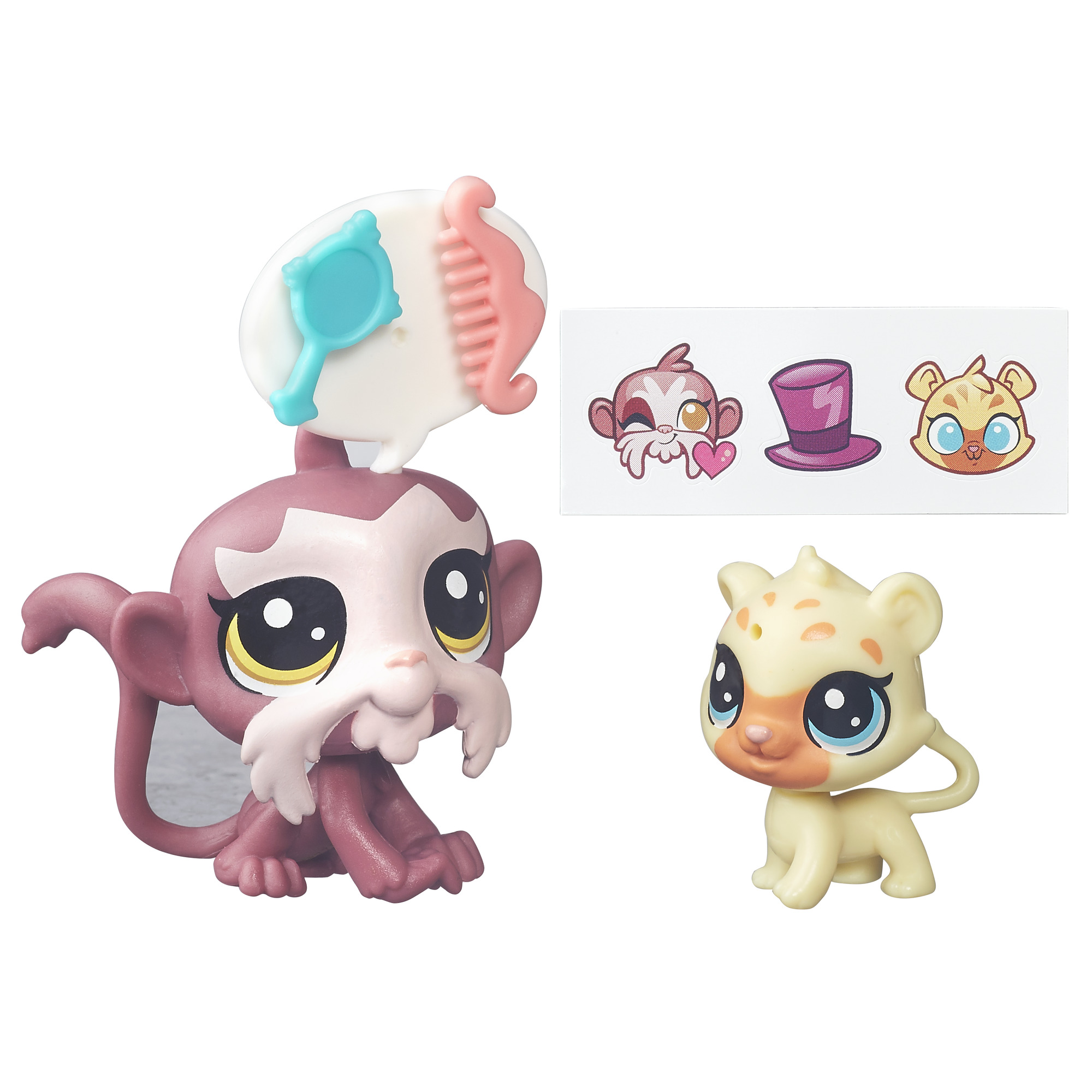 Littlest Pet Shop Pawsabilities Tamarin Beardley and Gigi Gepardi