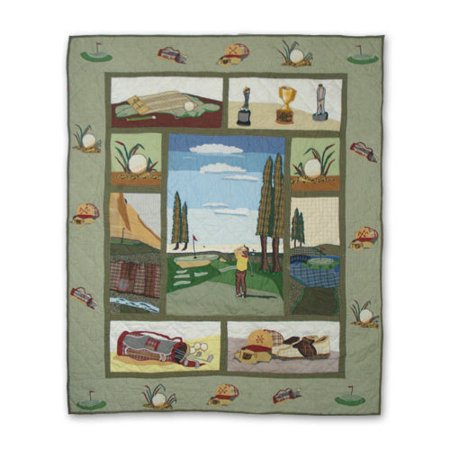 - Patch Magic Golf Cotton Throw Quilt