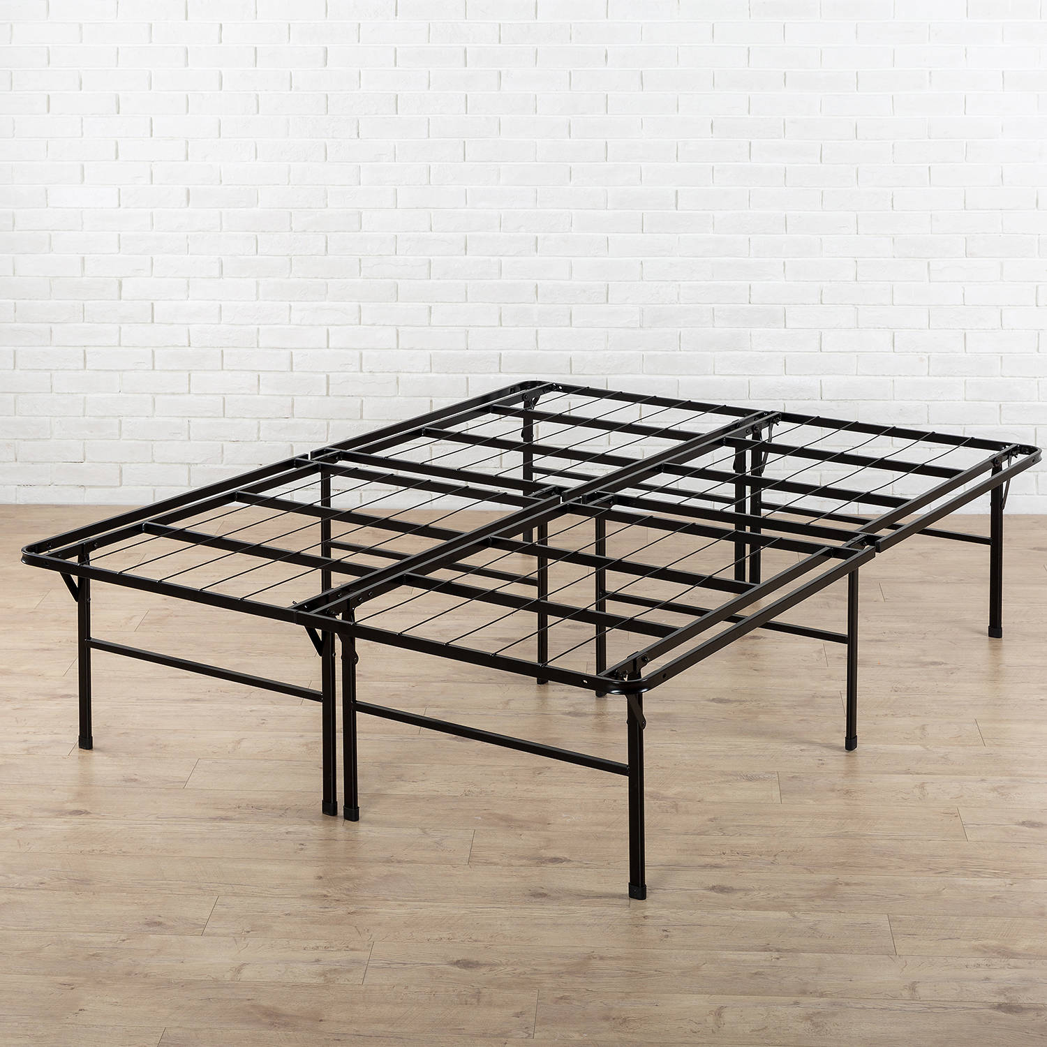 "Zinus 18"" High Profile Foldable Steel Smart Base Bed Frame with Under-Bed Storage, Easy No Tools Assembly, Multiple Sizes"