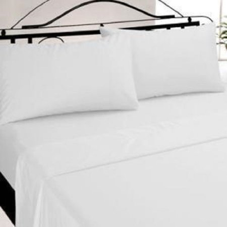 Ghp White 36 X84 X9 T 130 Percale Poly Cotton Blend Twin Xl Ed Bed Sheets