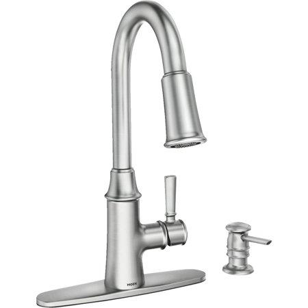 MOEN INC/FAUCETS SS SGL Kitch Faucet 87402SRS (Moen Kitchen Faucet Repair)