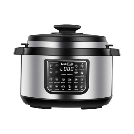 GeekChef 8 Quart 12-in-1 Pressure Cooker, Slow Cooker, Rice Cooker, Steamer, Cooking Pot, and more, Stainless Steel